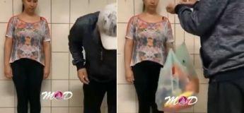 Blague à faire : faire porter des sacs avec un gateau à la crème